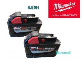 2 x brand new Milwaukee m18 9.0 REDLITHIUM High Demand 9.0 Battery Pack 48-11-1890